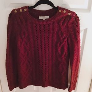 Thick blouse of red yarn S😘👌